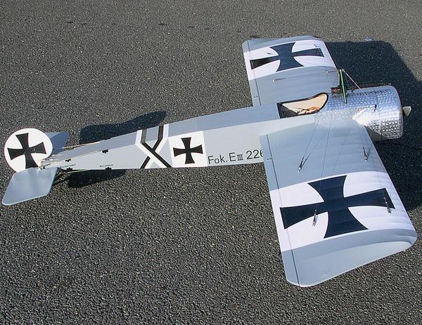 Fokker Eindecker plan 1//4 scale